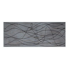 Vitra Bloom Gloss Antracite Decor 50 x 20cm