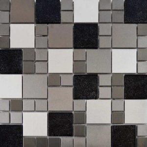 Metallic Mix Mosaic Tile 29.7 x 29.7cm