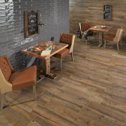 Mumble Wenge Anti-Slip Wood Effect Tile - 91cm x 15cm