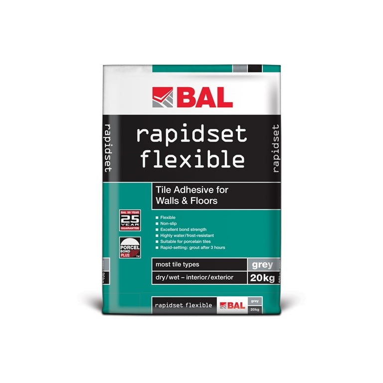 Bal Rapidset Flexible Adhesive – 20kg 1
