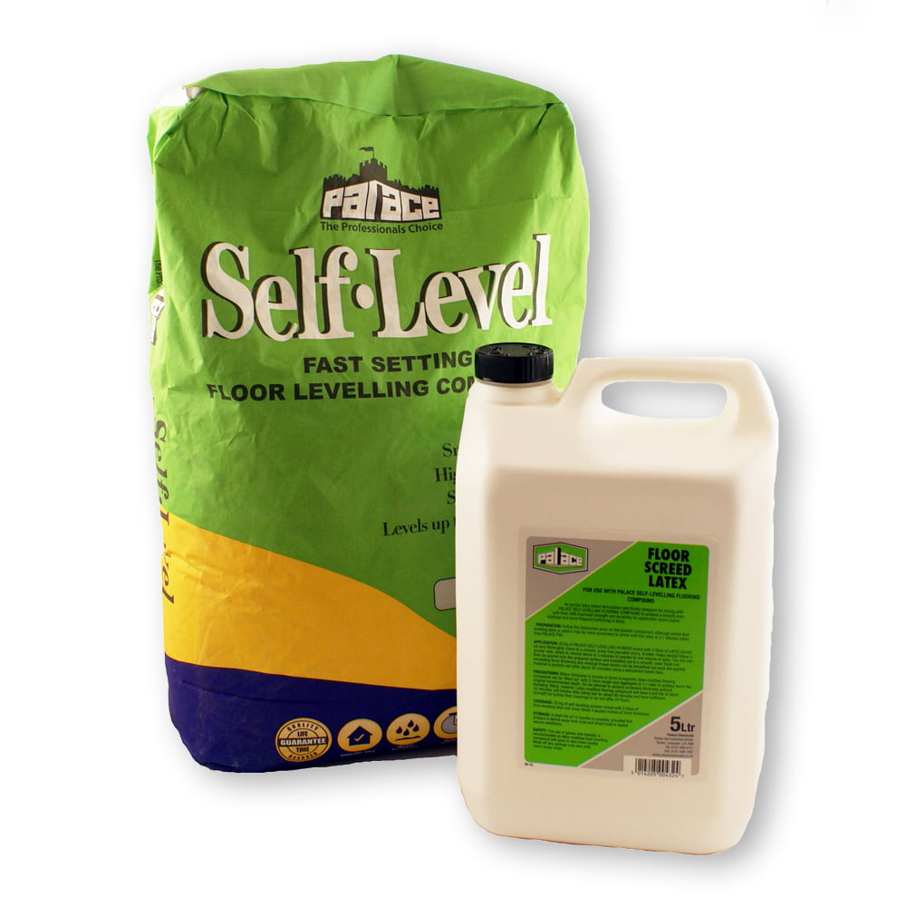 Self Levelling Compound 48 X 20kg Bags 5ltr Latex Bottles