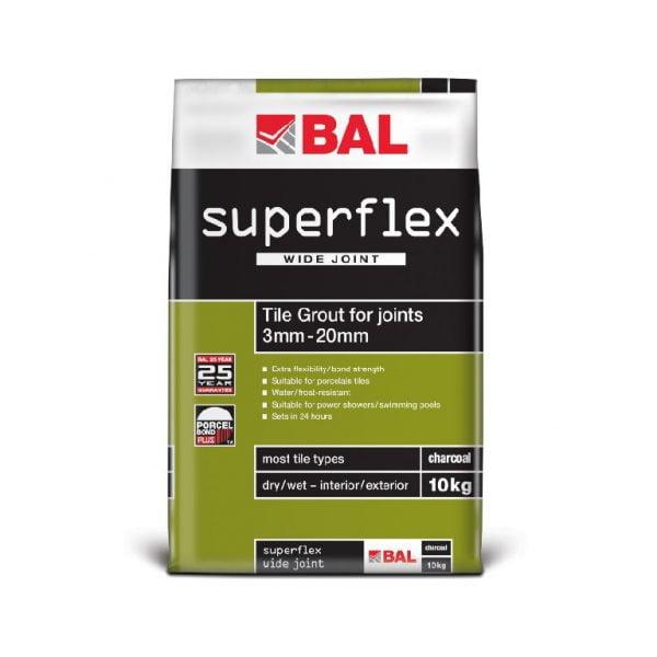Bal Superflex Wide Joint Grout - Charcoal - 10kg