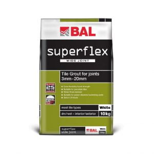Bal Superflex Wide Joint Grout - White - 10kg