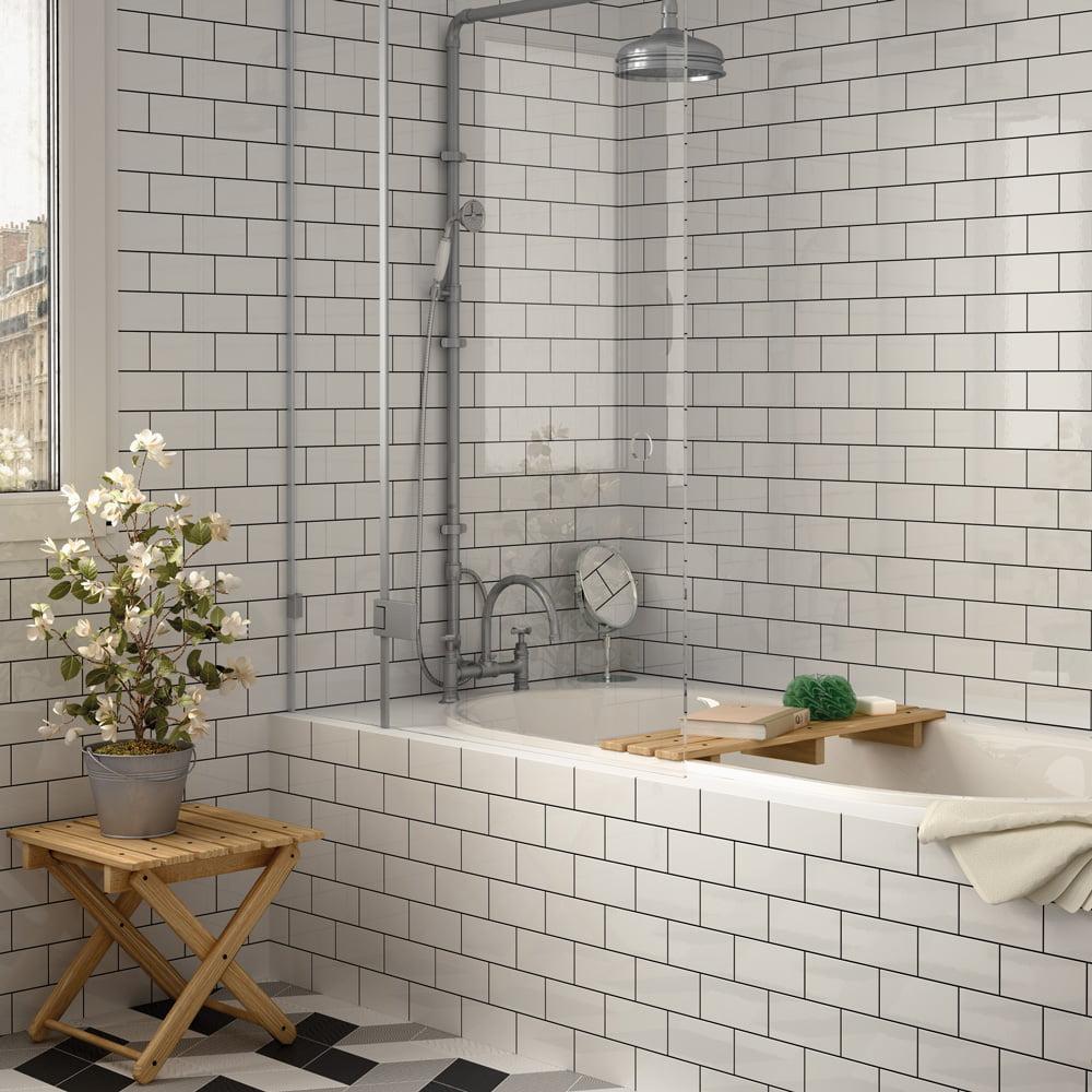 Liso Blanco Brillo (Gloss) 200 x 100mm Tiles 3