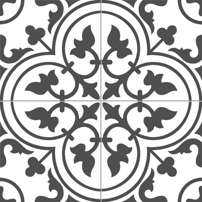 bourton monochrome black tile